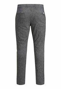 Jack & Jones - MARCO DAVE LEINEN - Pantalones chinos - black - 7
