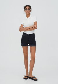 PULL&BEAR - Shorts di jeans - black - 1