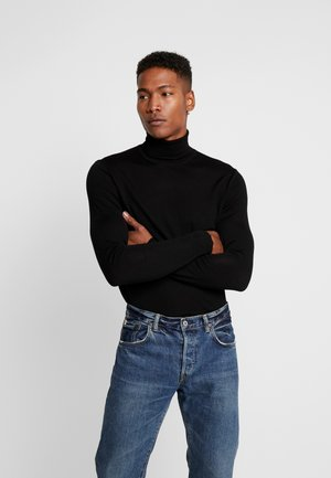 FLEMMING TURTLE NECK - Stickad tröja - black