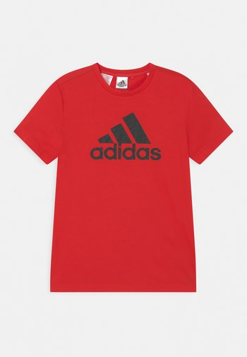 TEE - Print T-shirt - vivid red/carbon/black