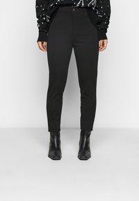 Even&Odd Petite - HIGH WAIST 5 pockets PUNTO trousers - Leggings - Trousers - black - 0