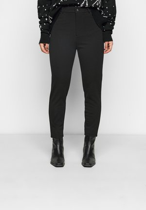 HIGH WAIST 5 pockets PUNTO trousers - Leggings - black