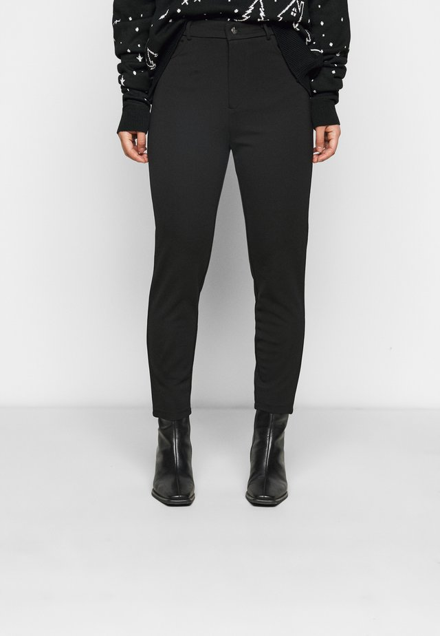 HIGH WAIST 5 pockets PUNTO trousers - Leggingsit - black