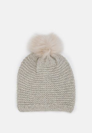 STITCH BEANIE POM - Mütze - light grey