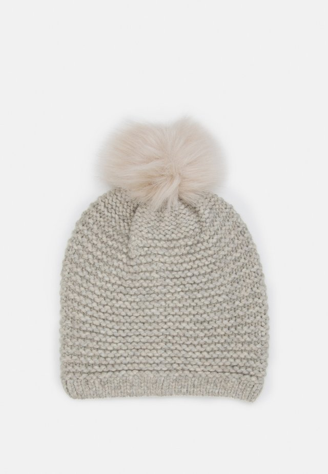 STITCH BEANIE POM - Bonnet - light grey