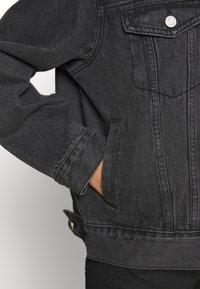 Missguided Petite - JACKET - Denim jacket - black - 5