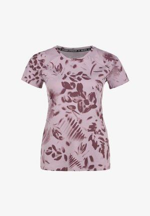 T-shirt con stampa - mauve pink / ash plum / reflective