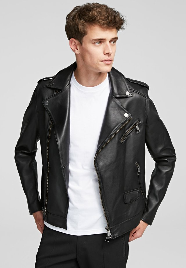 IKONIK BIKER  - Leather jacket - black