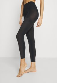 FALKE - FALKE TARNISH 100 DENIER LEGGINGS BLICKDICHT GROB SCHWARZ - Leggings - Stockings - black - 0