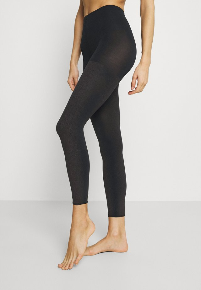 FALKE TARNISH 100 DENIER LEGGINGS BLICKDICHT GROB SCHWARZ - Legging - black