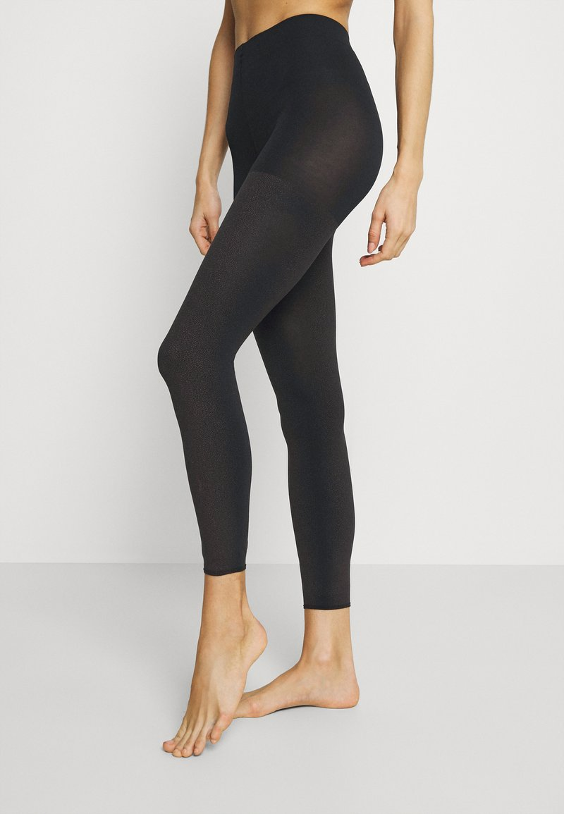 FALKE - FALKE TARNISH 100 DENIER LEGGINGS BLICKDICHT GROB SCHWARZ - Leggings - Stockings - black