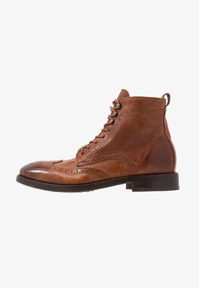 SHERWOOD - Bottines à lacets - tan