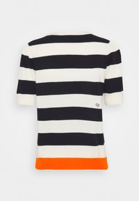 CHINTI & PARKER - JEANNE PUFF SLEEVE - T-shirt print - cream/navy/orange - 1