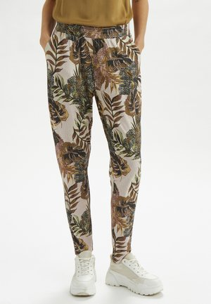 CRCINDY - Pantalon classique - dull gold jungle
