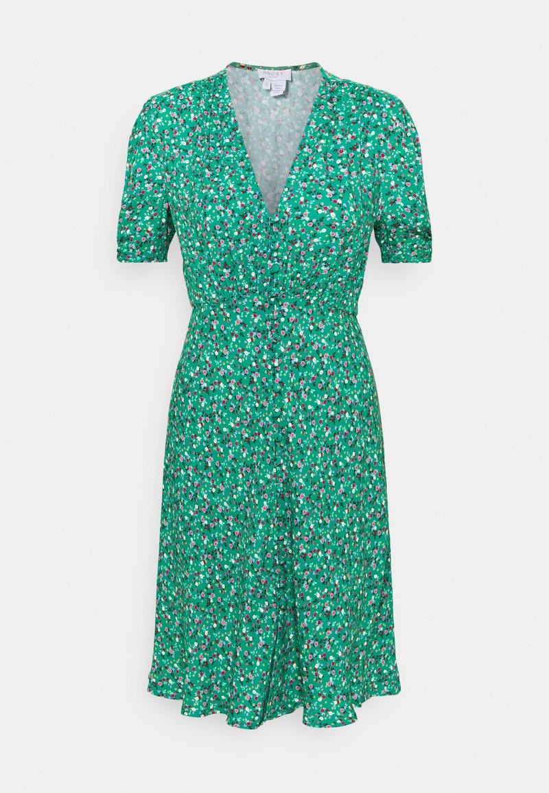 Ghost - SABRINA DRESS - Abito a camicia - green/pink