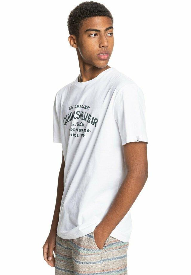 WIDER MILE - T-Shirt print - white