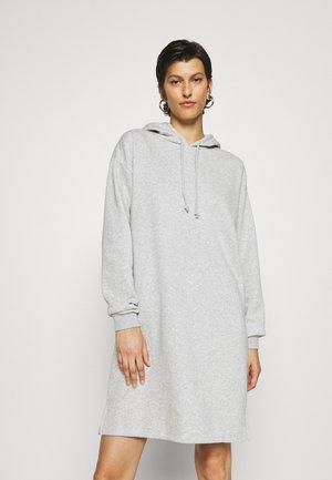 PCCHILLI LS HOODIE DRESS TALL - Sukienka letnia - light grey melange