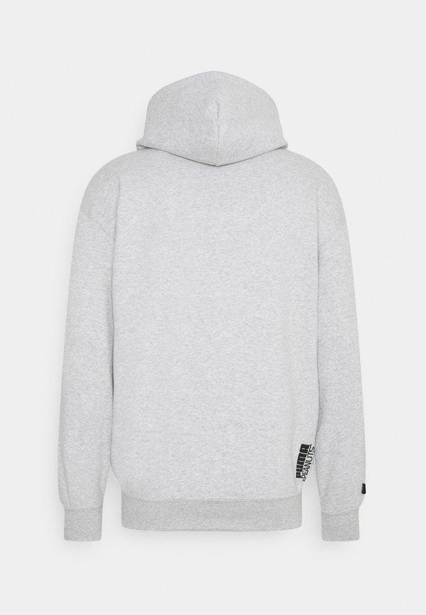 Puma PEANUTS HOODIE - Bluza z kapturem - light gray heather/jasnoszary melanż Odzież Męska NTHR