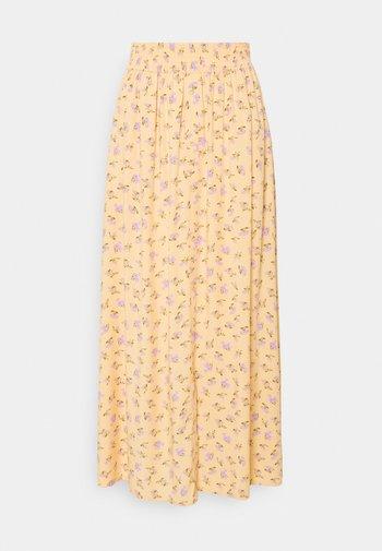 YASLUNALA ANKLE SKIRT - Falda larga - golden straw/lunala