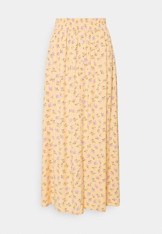 YASLUNALA ANKLE SKIRT - Maxi skirt - golden straw/lunala