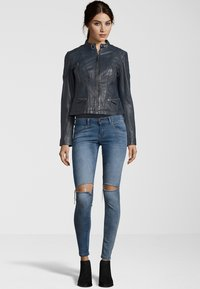7eleven - SYDNEY - Leather jacket - navy - 1