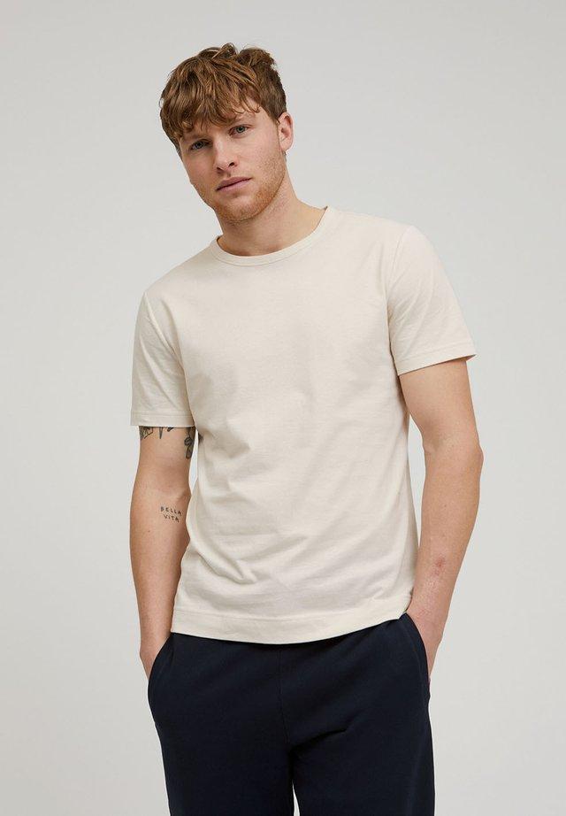 AANTONIO SOFT BRUSHED - Basic T-shirt - white sand
