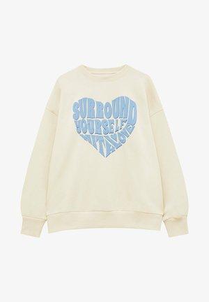 Sweater - mottled beige