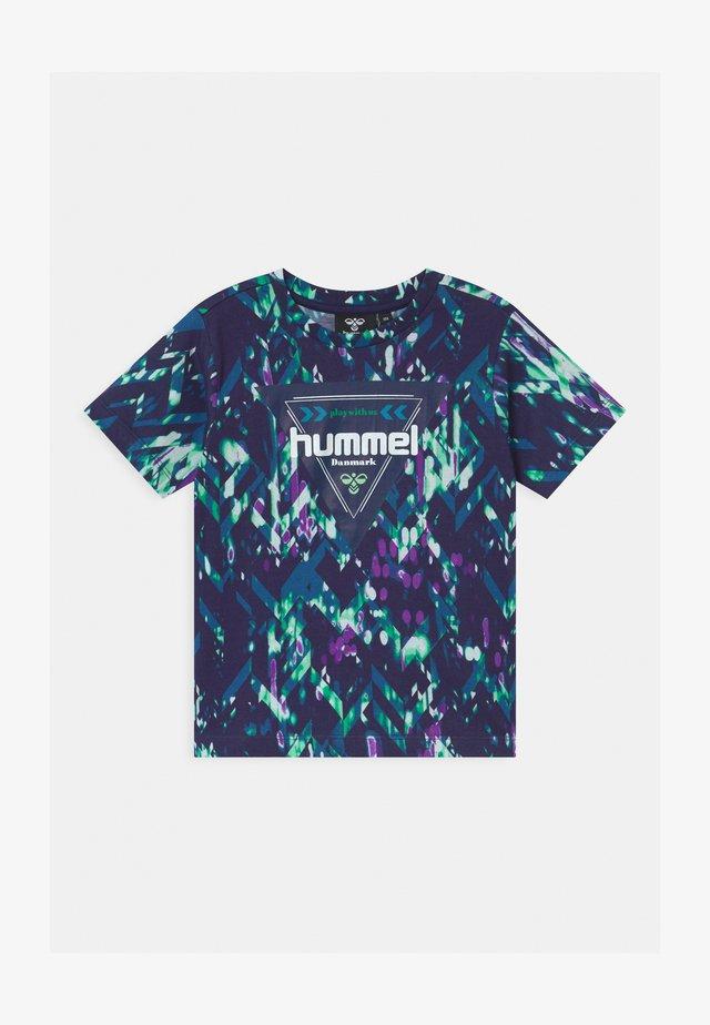 EMIKO UNISEX - T-shirt imprimé - black iris
