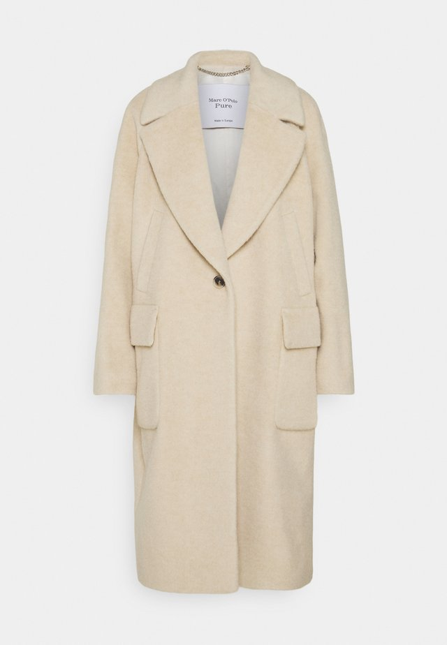OVERSIZED COAT ROUND SHOULDERS RAGLAN SLEEVES CHUNKY LAPEL - Manteau classique - natural white