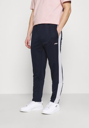 SANDRO TRACK PANT - Tracksuit bottoms - black iris/bright white