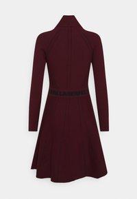 KARL LAGERFELD - CONTRAST DRESS - Jumper dress - tawny port - 1