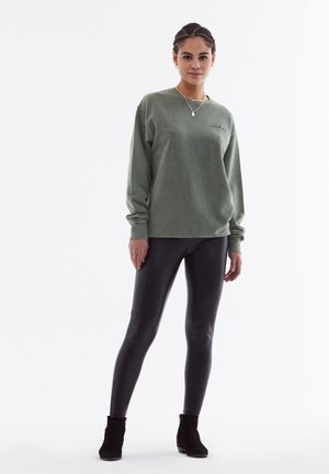 FAUX LEATHER - Legging - black