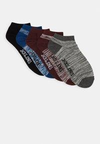 Jack & Jones - JACSLUB SHORT SOCK 5 PACK - Calcetines tobilleros - black/port royal/dark grey melange - 0