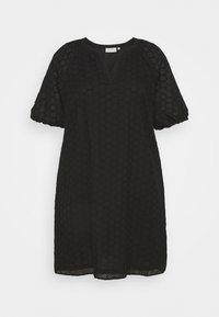 ONLY Carmakoma - CARAGATA 2/4 DRESS - Day dress - black - 0