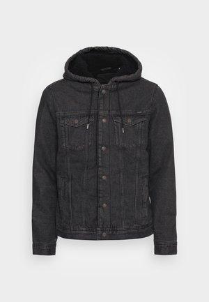 JJIJEAN JJACKET HOOD - Denim jacket - black denim