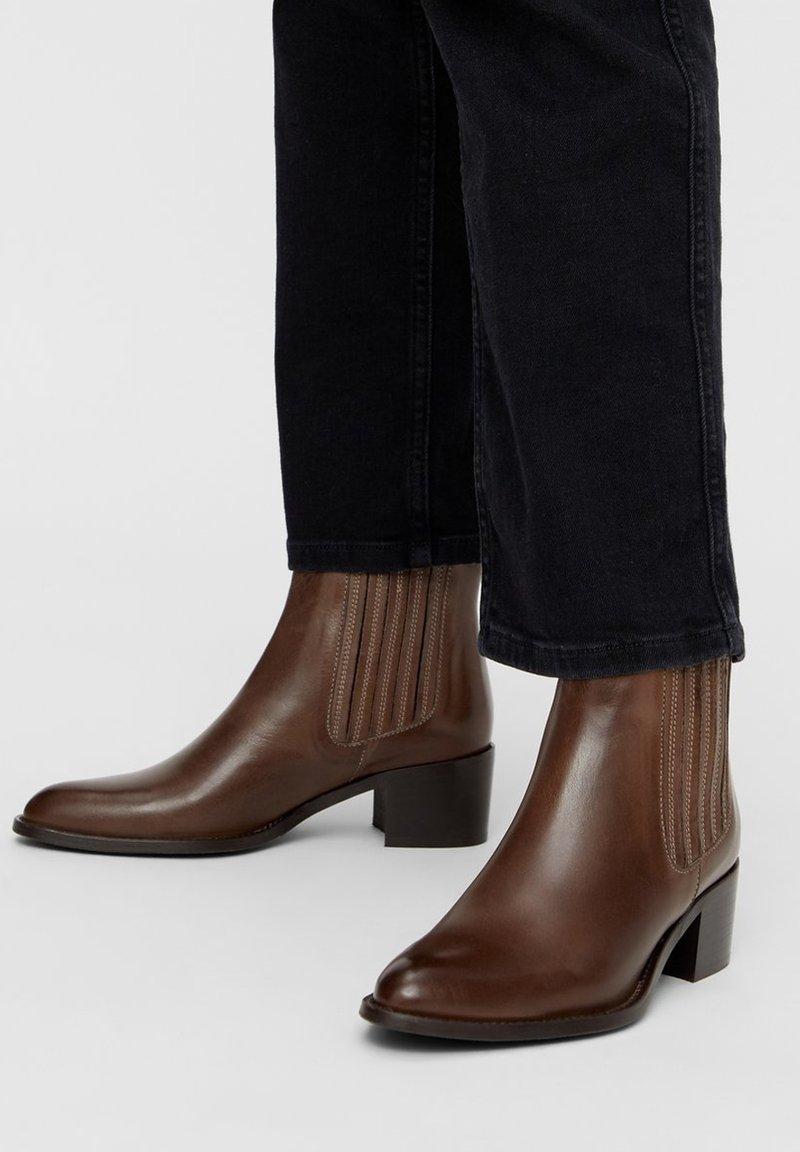 Bianco - BIACAROL  - Classic ankle boots - mediumbrown