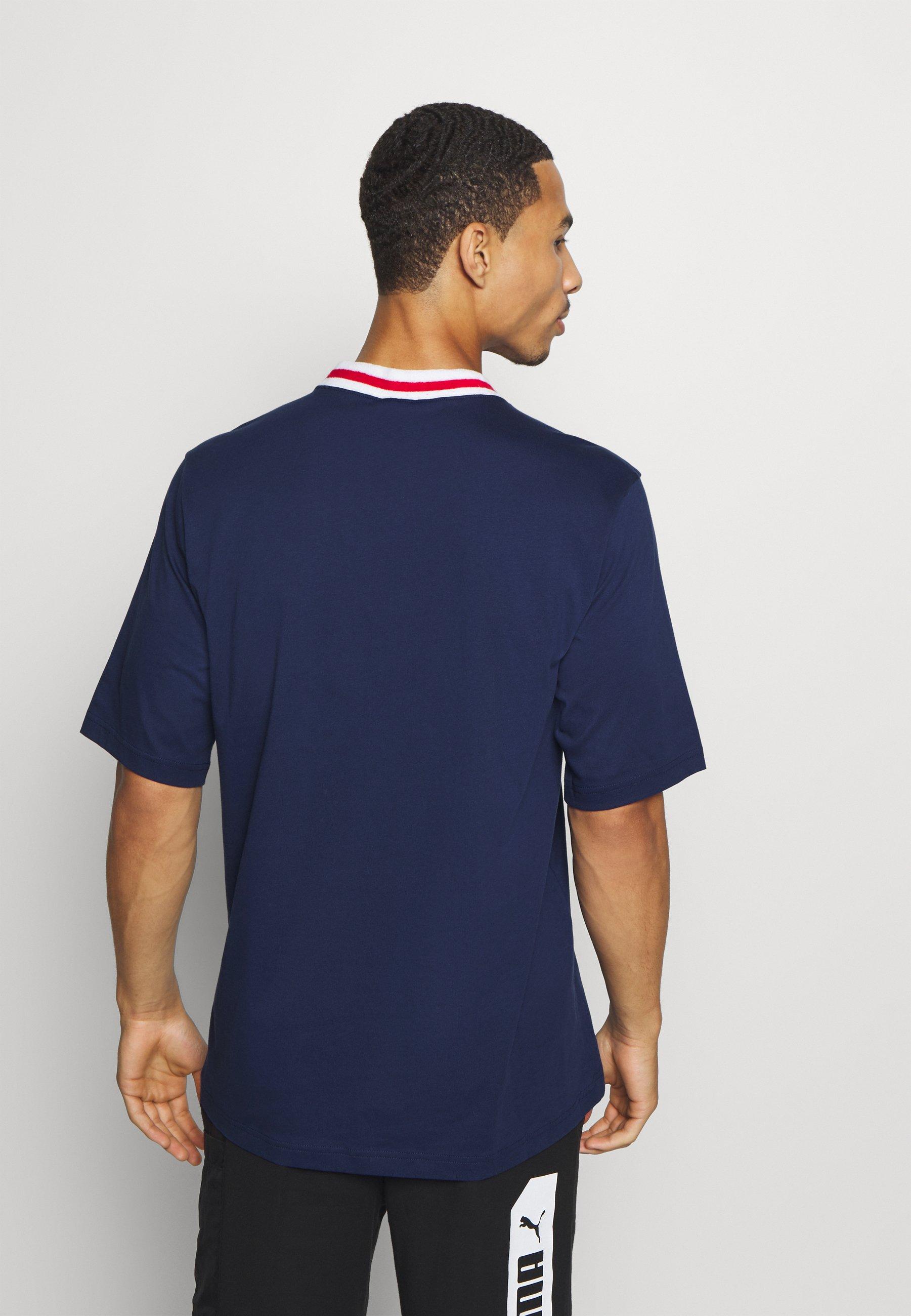 ROCHESTER RETRO BASKET V NECK T shirts print dark blue