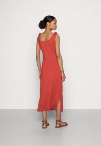 edc by Esprit - TIE DRESS - Jersey dress - terracotta - 2