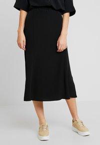Monki - HALO SKIRT - A-line skirt - black dark - 0