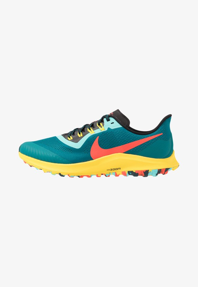 AIR ZOOM PEGASUS 36  - Obuwie do biegania Szlak - geode teal/bright crimson/black/chrome yellow/aurora green