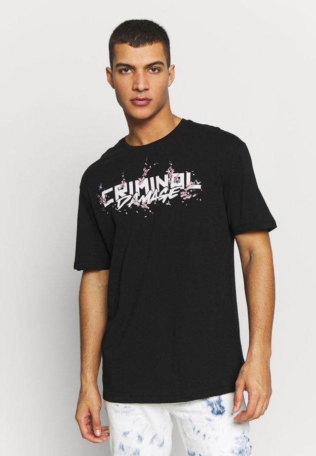 SAKURA TEE - Print T-shirt - black