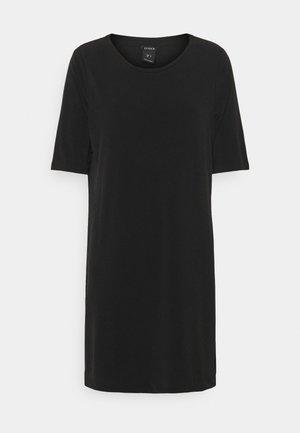 TINNA TUNIC - Print T-shirt - black