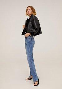 Mango - DANI - Leather jacket - black - 1