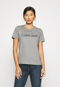 Calvin Klein - CORE LOGO - T-shirt con stampa - mid grey heather - 0