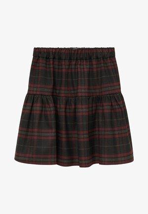 CROWN - Pleated skirt - donkermarine