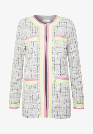 JACKET WITH POCKETS - Chaqueta fina - pearl white