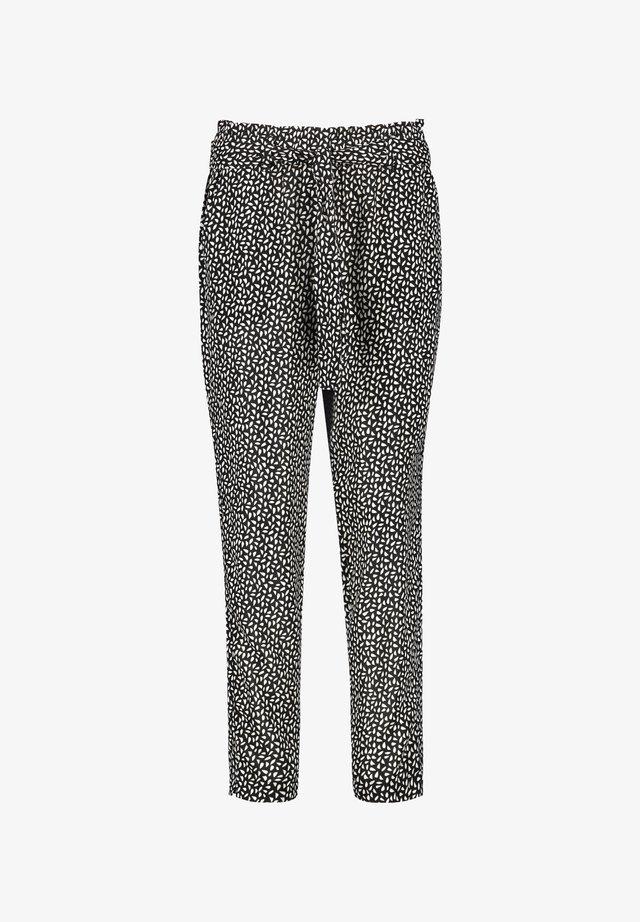 HOSE FREIZEIT LANG LOUNGE PANTS TS MIT BINDEGÜRTEL - Pantalon de survêtement - black gemustert