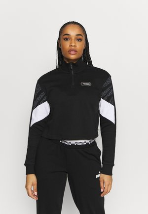 REBEL ZIP CREW - Sweatshirt - black/untamed