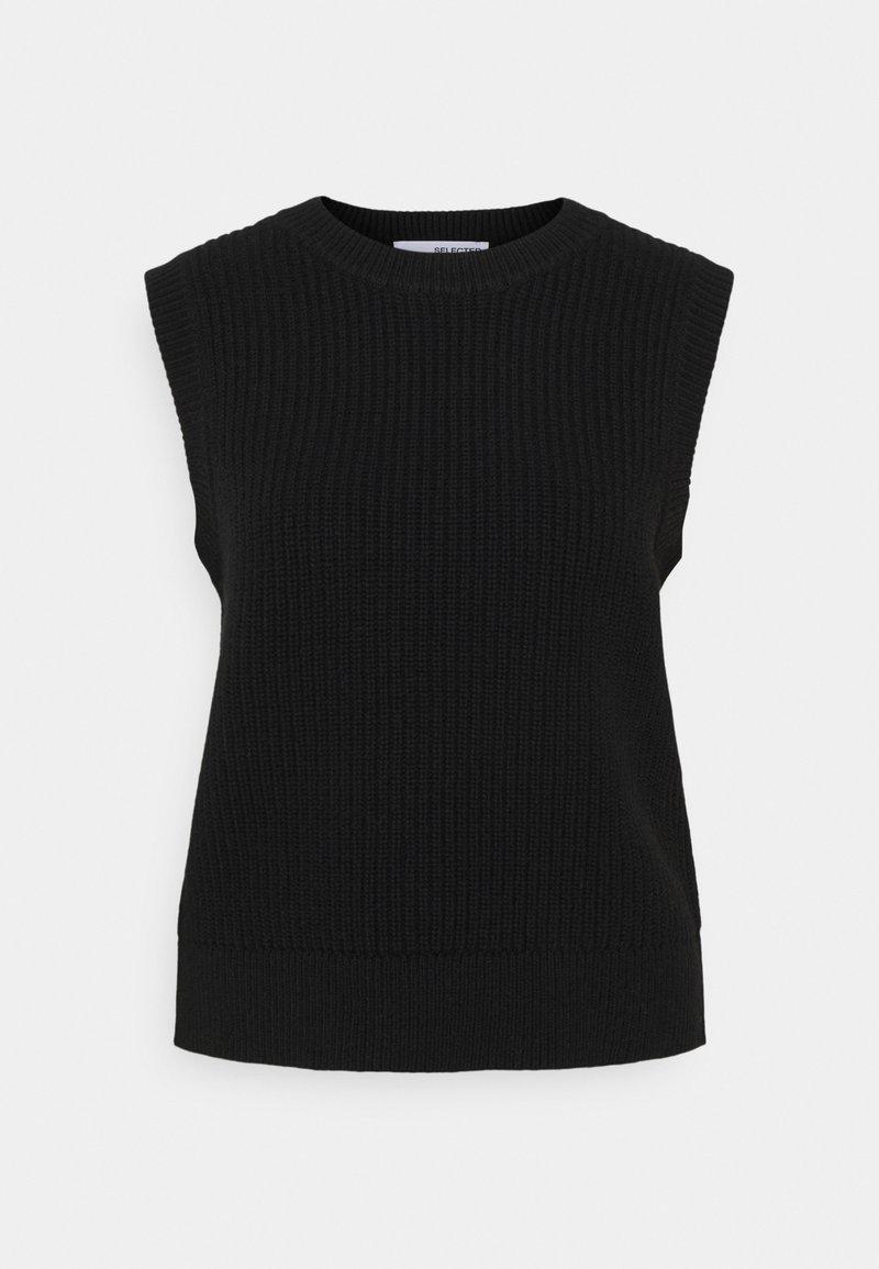 Selected Femme Petite - SLFJOS VEST - Printtipaita - black