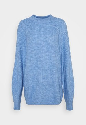 WAFFLE STITCH MOCK  AIRY - Neule - chambray heather
